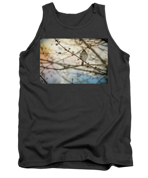 Tank Top featuring the photograph Cloudy Finch by Trish Tritz