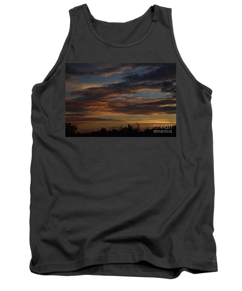 Tank Top featuring the photograph Cloudy Kansas Evening by Mark McReynolds