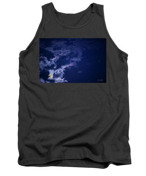 Cloudy Moon With Jupiter Tank Top