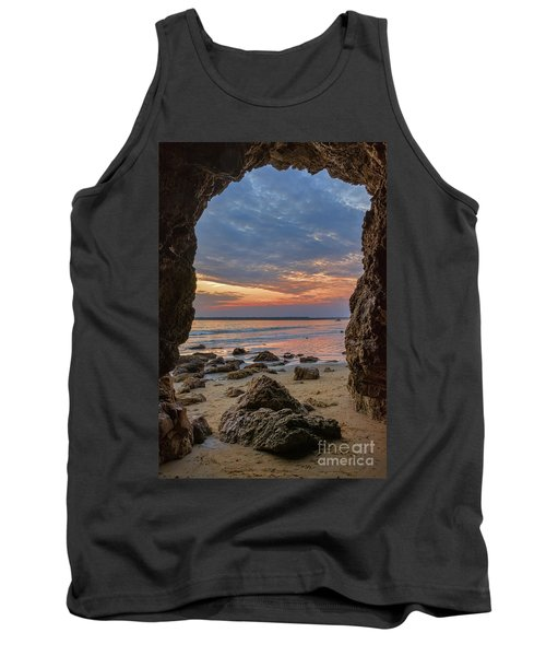 Cloudy Sunset At Low Tide Tank Top