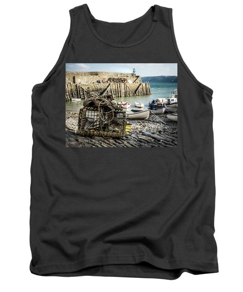 Tank Top featuring the photograph Clovelly Crab Trap by Nick Bywater