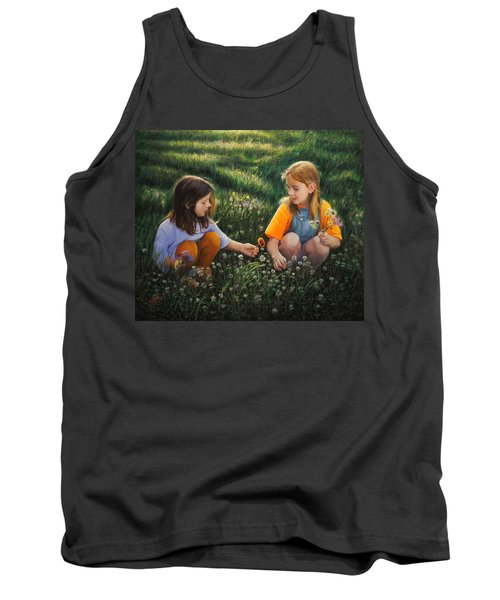 Tank Top featuring the painting Clover Field Surprise by Glenn Beasley