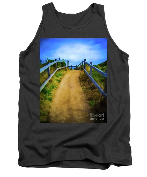 Tank Top featuring the photograph Coast Path by Perry Webster