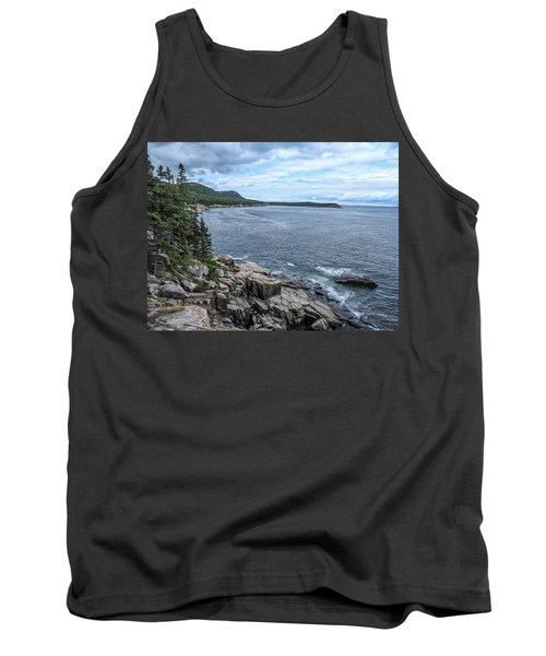 Coastal Landscape From Ocean Path Trail, Acadia National Park Tank Top