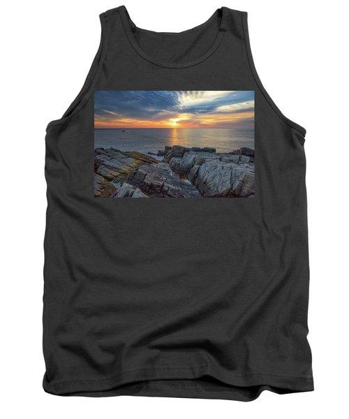 Coastal Sunrise On The Cliffs Tank Top