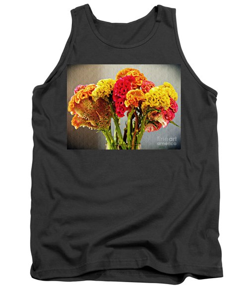 Tank Top featuring the photograph Cockscomb Bouquet 3 by Sarah Loft