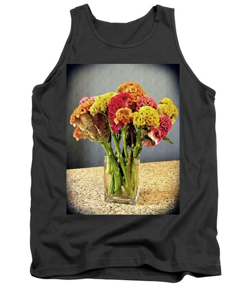 Tank Top featuring the photograph Cockscomb Bouquet by Sarah Loft