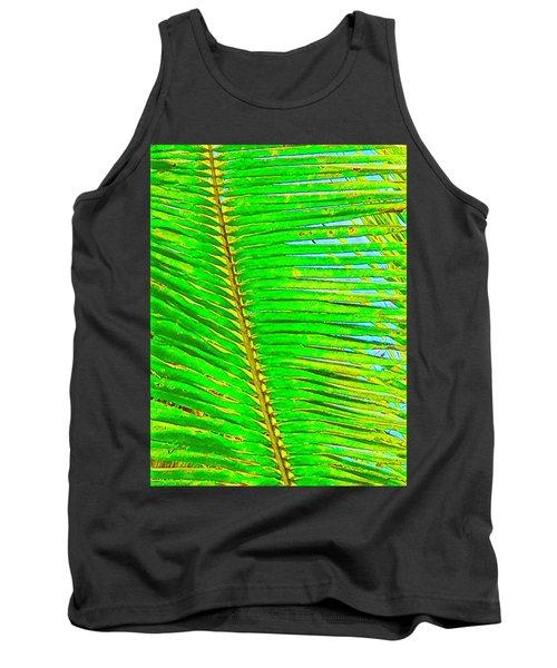 Coconut Palm Leaf Aloha Tank Top