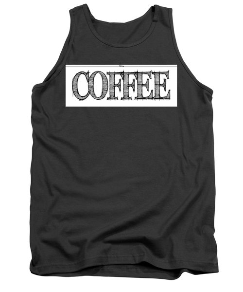 Coffee Fill Line Mug 2 Tank Top by Robert J Sadler