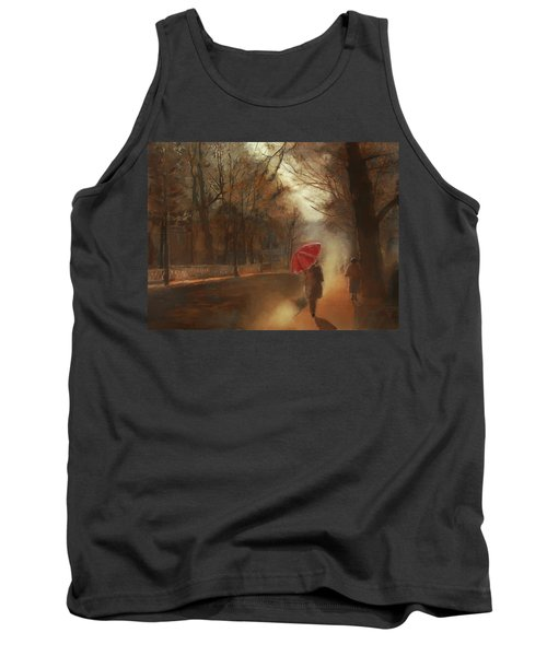Cold Autumn Morning Painting Tank Top
