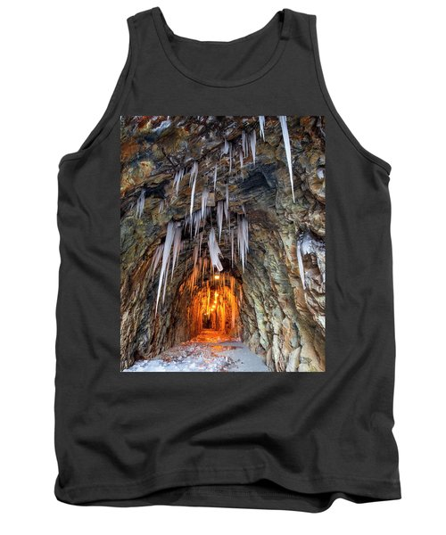 Tank Top featuring the photograph Cold Passage by Alan Raasch