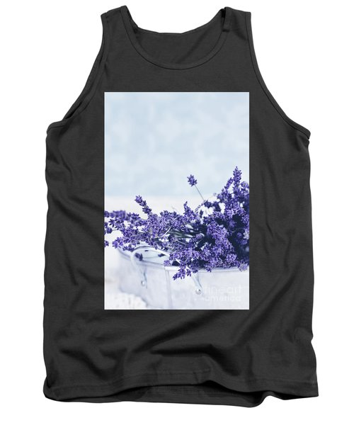 Tank Top featuring the photograph Collection Of Lavender  by Stephanie Frey