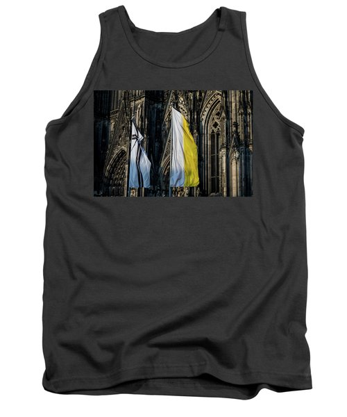 Cologne Cathedral Flags Tank Top