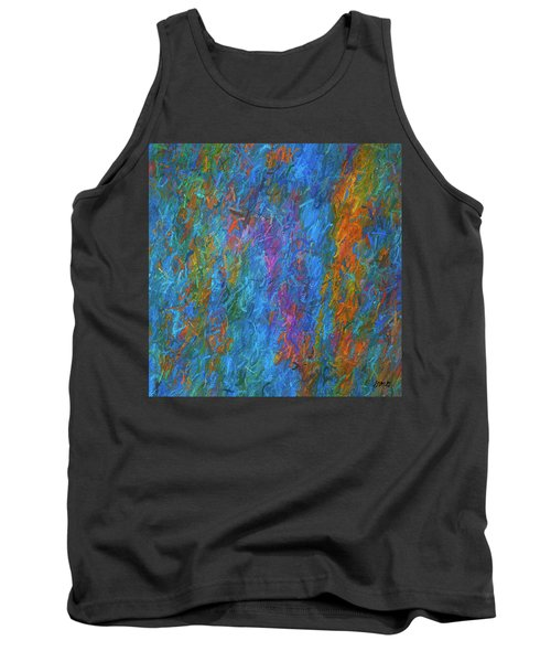 Color Abstraction Xiv Tank Top by David Gordon