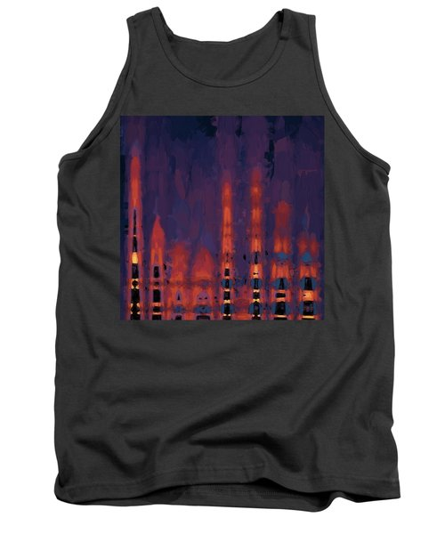 Tank Top featuring the digital art Color Abstraction Xxxviii by Dave Gordon