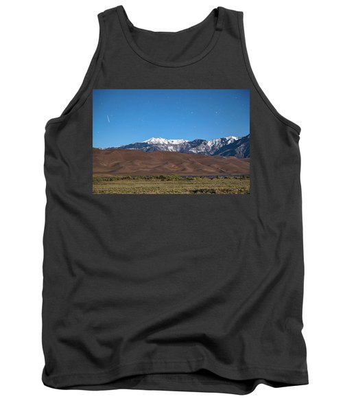 Colorado Great Sand Dunes With Falling Star Tank Top by James BO Insogna