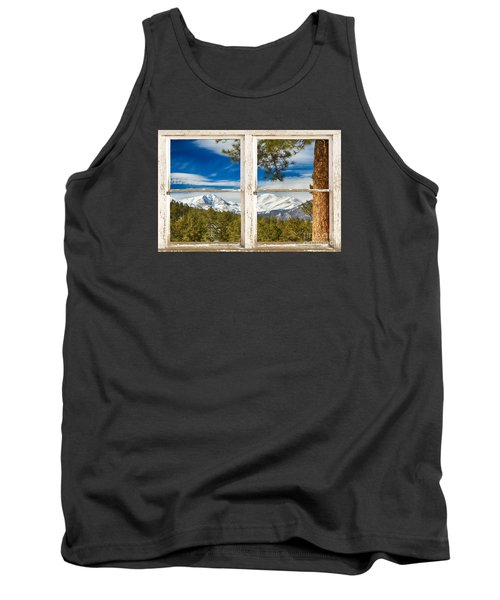 Colorado Rocky Mountain Rustic Window View Tank Top by James BO  Insogna