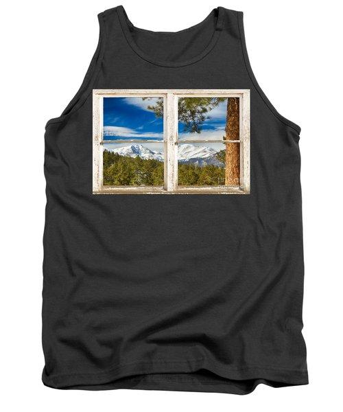 Colorado Rocky Mountain Rustic Window View Tank Top