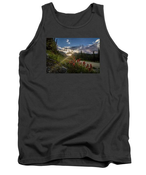 Colorado Wildflowers Under Evening Sun Tank Top by Michael J Bauer