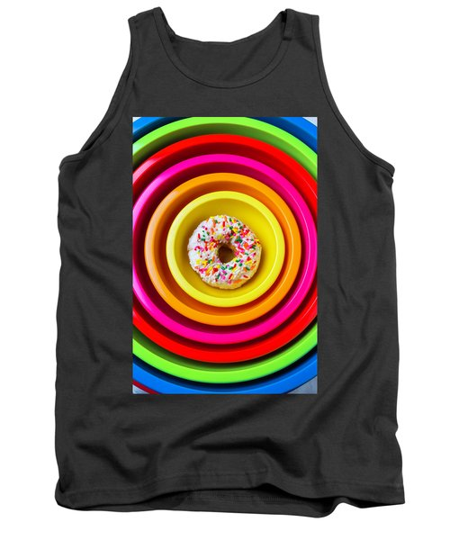 Colored Bowls And Donut Tank Top