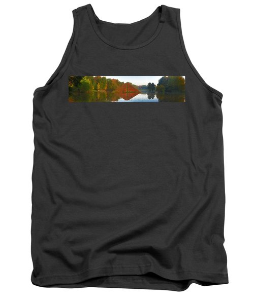 Colored Lake Pyramid Tank Top