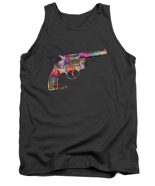 Colorful 1896 Wesson Revolver Patent Tank Top