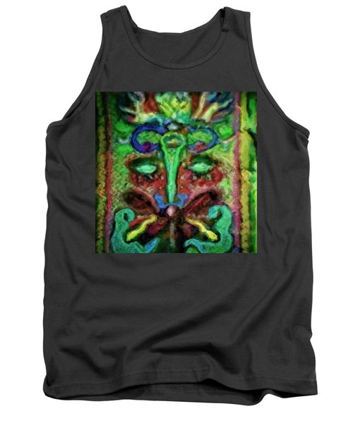 Colorful Abstract Painting Swirls And Dabs And Dots With Hidden Meaning And Secret Stories Of Birds  Tank Top