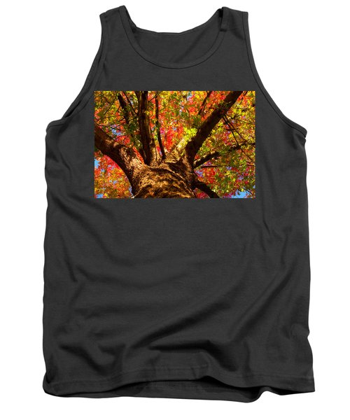 Colorful Autumn Abstract Tank Top
