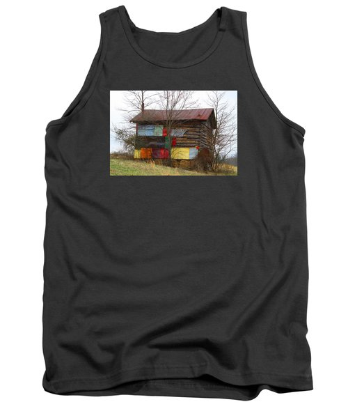 Colorful Barn Tank Top by Kathryn Meyer