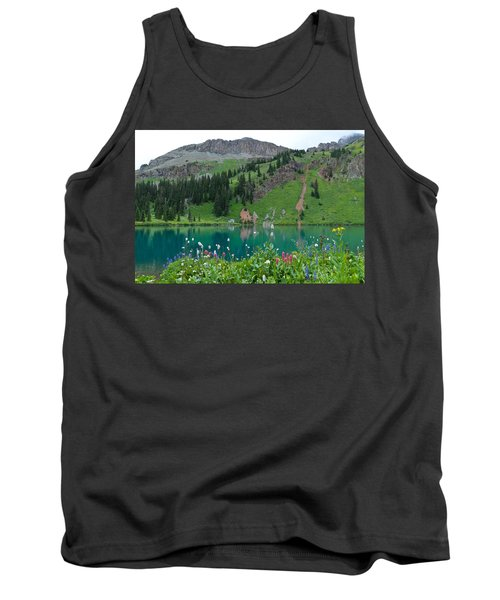Colorful Blue Lakes Landscape Tank Top