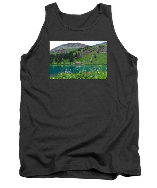 Colorful Blue Lakes Landscape Tank Top