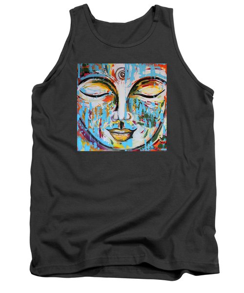 Colorful Buddha Tank Top by Theresa Marie Johnson