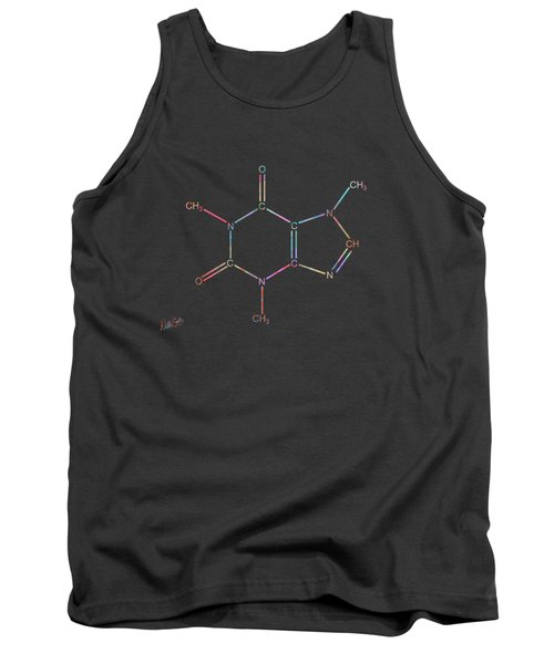 Colorful Caffeine Molecular Structure Tank Top
