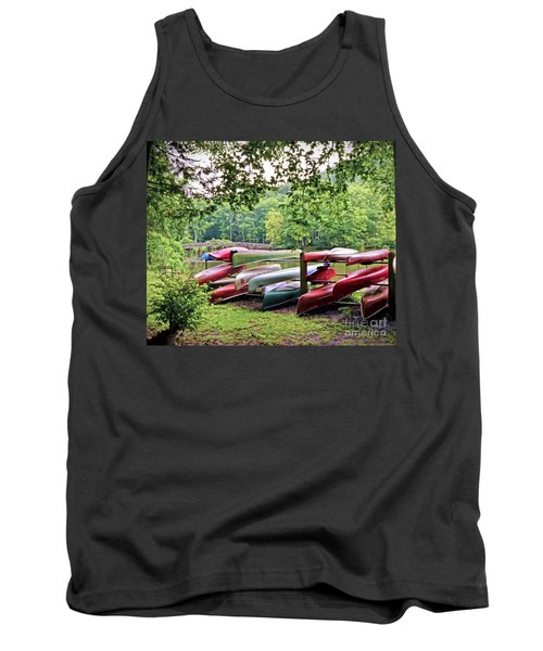 Colorful Canoes At Hungry Mother State Park Tank Top