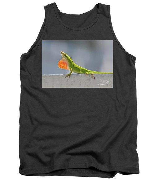 Colorful Carolina Anole Lizard Tank Top