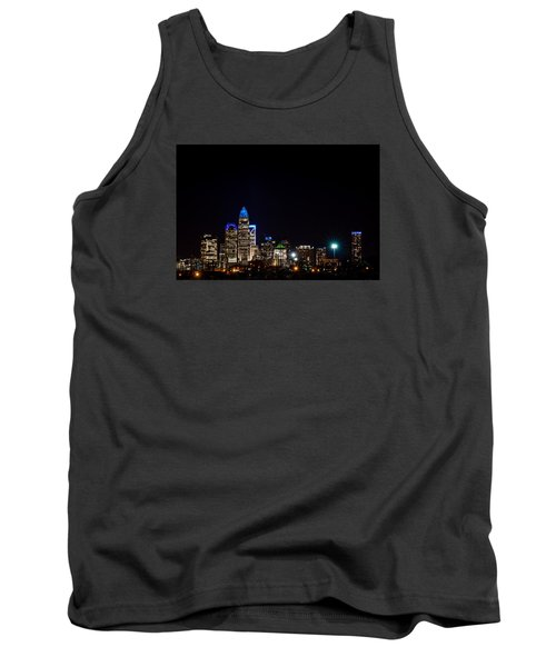 Colorful Charlotte, North Carolina Skyline Tank Top