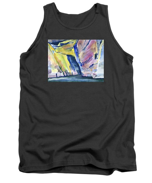 Colorful Cliffs And Cave Tank Top