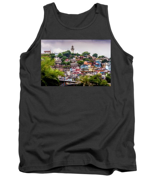 Colorful Houses On The Hill Tank Top
