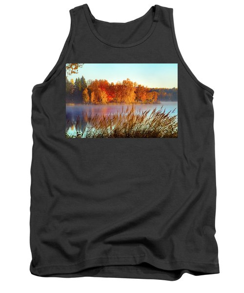 Colorful Dawn On Haley Pond Tank Top