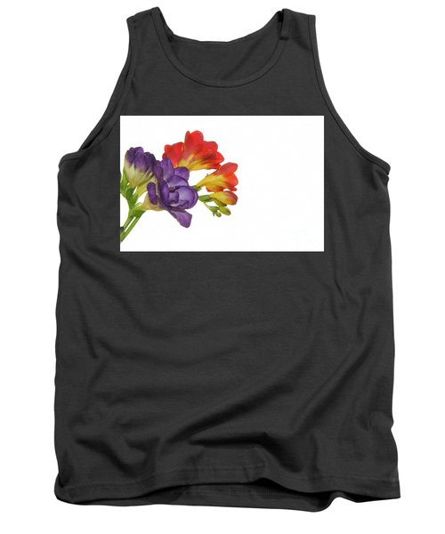 Colorful Freesias Tank Top