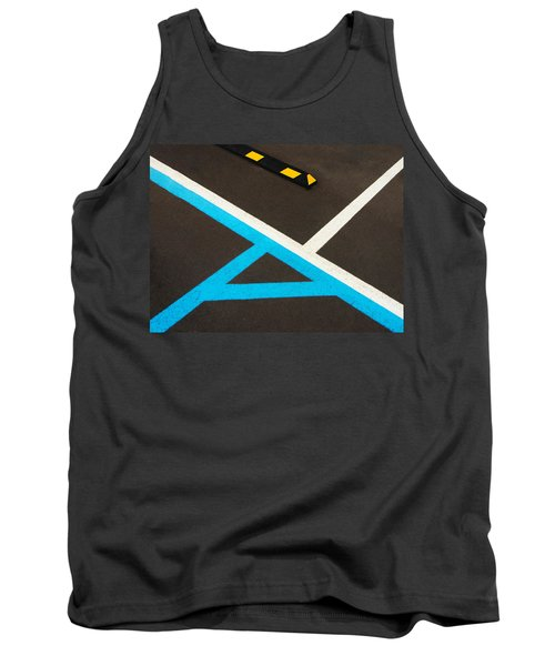 Colorful Geometry In The Parking Lot Tank Top by Gary Slawsky
