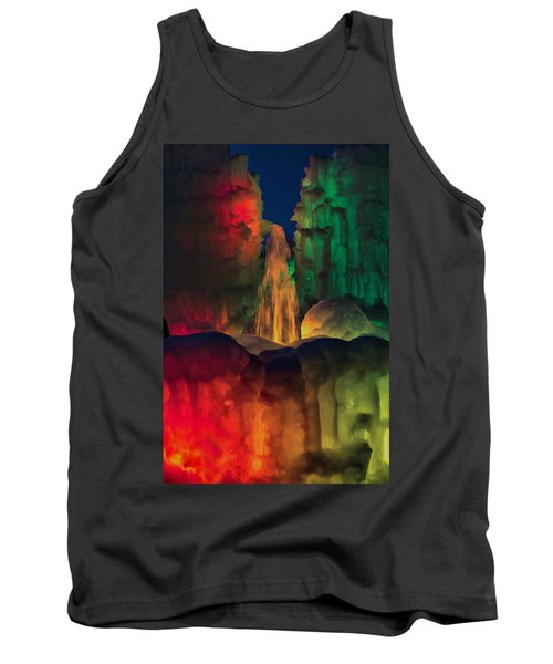 Colorful Ice  Tank Top by Betty Pauwels
