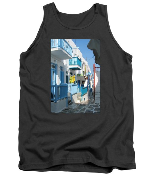 Tank Top featuring the photograph Colorful Mykonos by Carla Parris