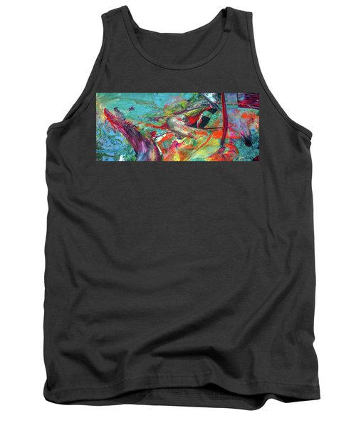 Colorful Puffin Bird Art - Happy Abstract Animal Birds Painting Tank Top