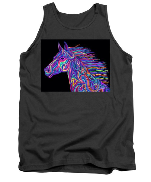 Colorful Rainbow Stallion  Tank Top