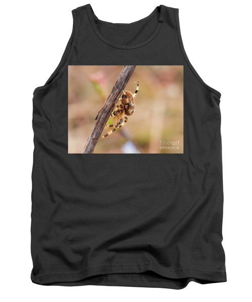 Colorful Spider Hanging From The Stick  Tank Top