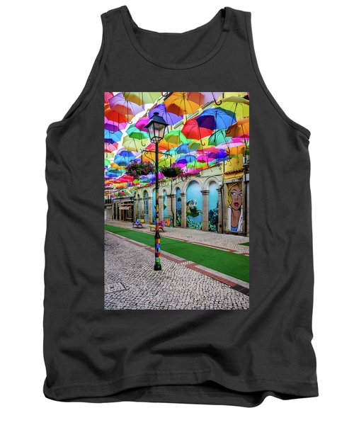 Colorful Street Tank Top by Marco Oliveira