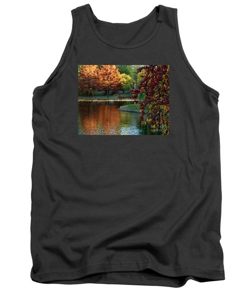 Tank Top featuring the photograph Colorful Trees Boston by Haleh Mahbod