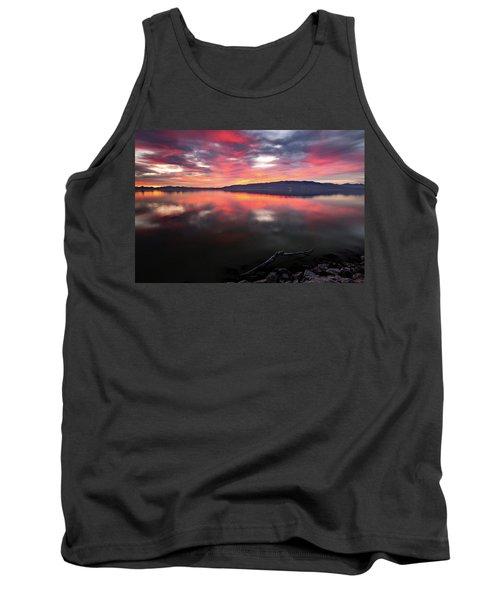 Colorful Utah Lake Sunset Tank Top