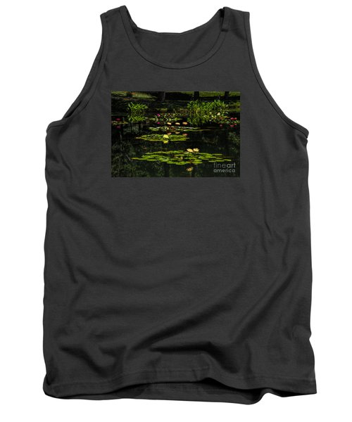 Colorful Waterlily Pond Tank Top